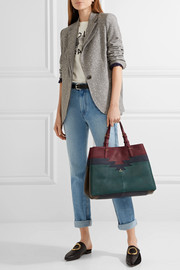 Maurice color-block leather tote