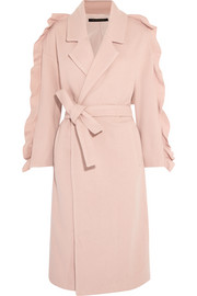 Bexley ruffled wool-blend coat