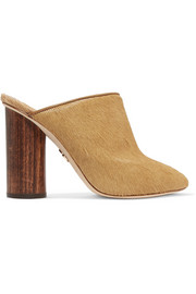 Brother Vellies Bianca shearling-lined calf hair mules