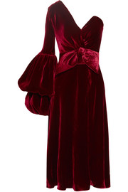 Sabina one-shoulder velvet dress