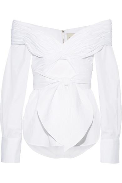 Johanna Ortiz | Jandra off-the-shoulder cotton-poplin top | NET-A-PORTER.COM