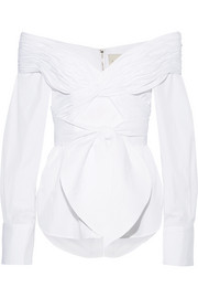 Johanna Ortiz Jandra off-the-shoulder cotton-poplin top