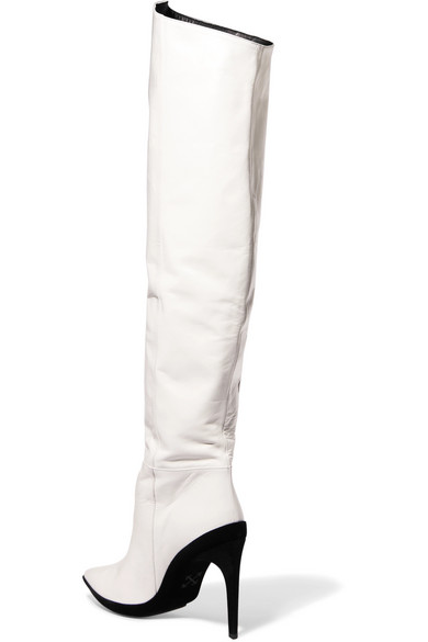 aa780a3c889 For Walking printed leather over-the-knee boots
