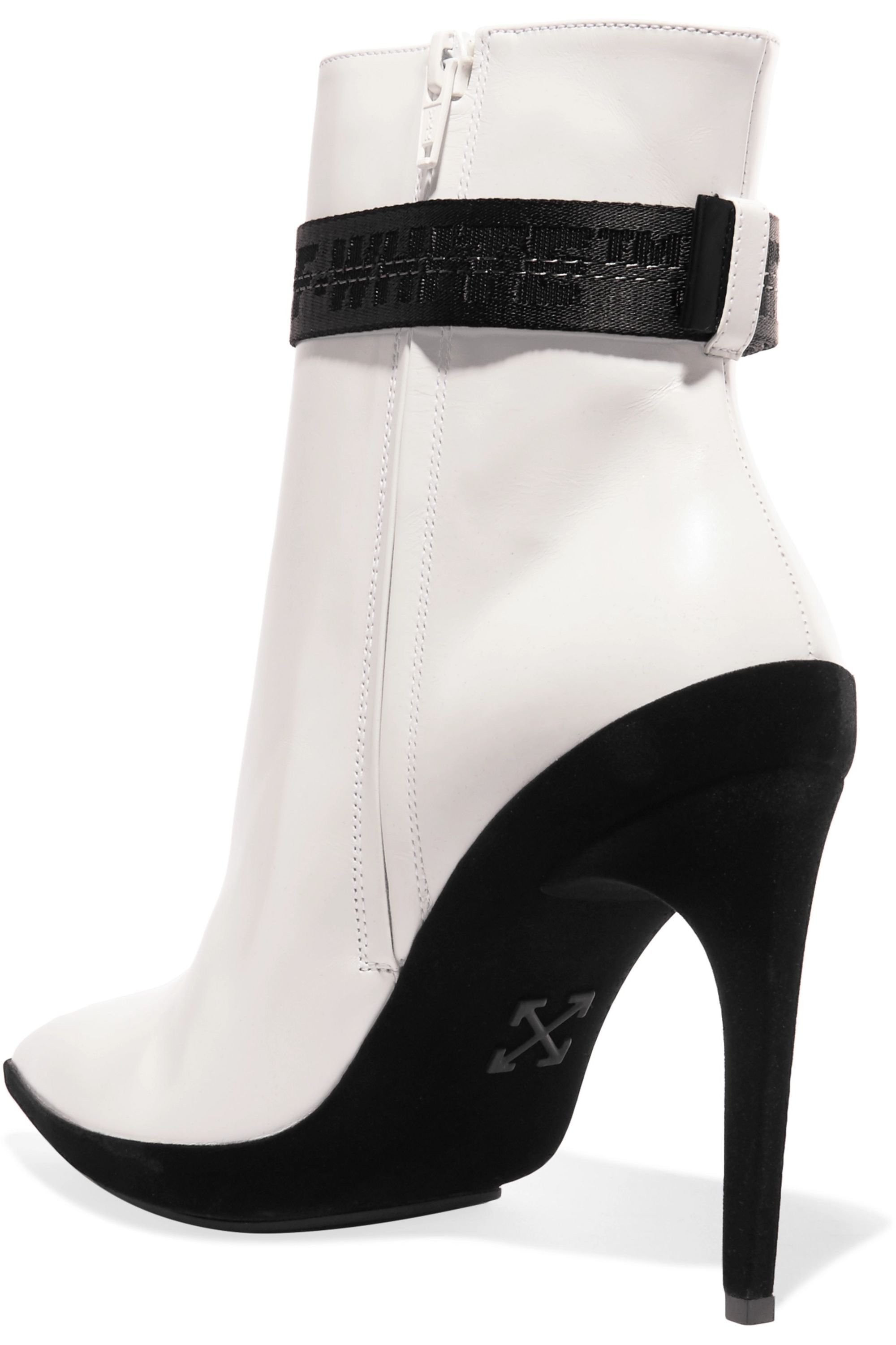 Off-White For Walking printed leather ankle boots