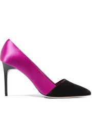 Oscar de la Renta Satin and velvet pumps