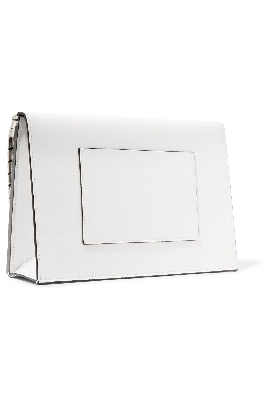Proenza Schouler The Lunch Bag 金属感锁缝皮革小号手拿包