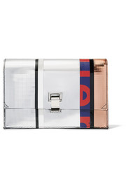 The Lunch Bag small paneled mirrored leather clutch