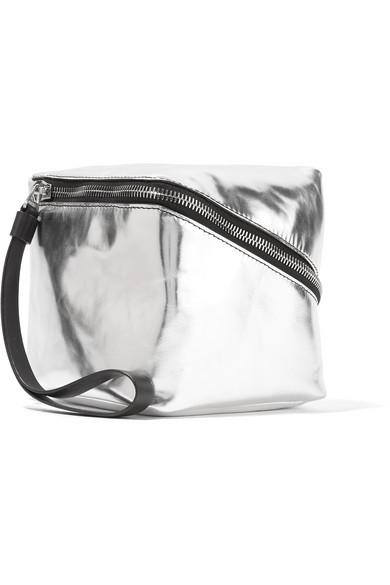 Proenza Schouler - Cube Mini Metallic Leather Clutch - Silver
