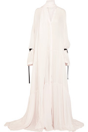 Oversized voile maxi dress