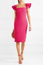 Antonio Berardi Ruffled stretch-crepe dress