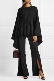 Antonio Berardi Button-detailed pleated crepe top