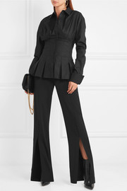 Antonio Berardi Pleated cotton-blend shirt