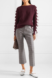 Paul & Joe Lace-up cotton sweater