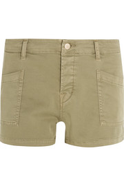 Brona cotton-blend twill shorts