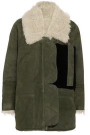 Ines shearling-lined suede jacket