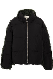 Lorne shearling and shell quilted down jacket