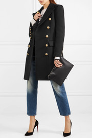 BalmainDouble-breasted wool and cashmere-blend coat
