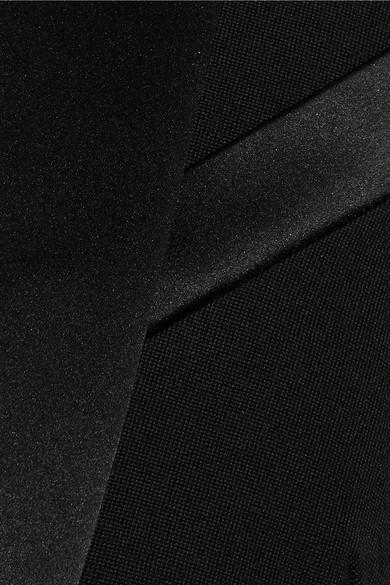 Balmain Blazer aus Wolle mit Satinbesatz