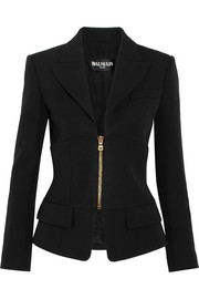 Paneled wool blazer