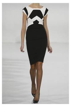 Antonio Berardi | Paneled crepe pencil dress | NET-A-PORTER.COM
