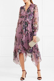 Kaylah floral-print silk-chiffon midi dress