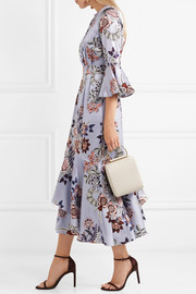 Florence floral-print silk-satin midi dress