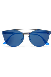 Tuttolente Giaguaro round-frame acetate and metal mirrored sunglasses