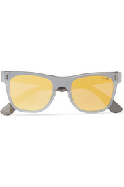 Tuttolente square-frame acetate mirrored sunglasses