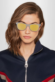 Retrosuperfuture Tuttolente square-frame acetate mirrored sunglasses