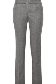 Hazen houndstooth wool-blend straight-leg pants