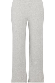 Canal frayed French cotton-terry track pants
