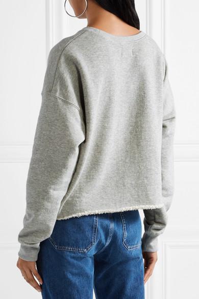 SIMON MILLER Sweatshirt aus Baumwollfrottee mit Fransen