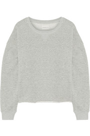 Frayed French cotton-terry sweatshirt