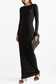 Devoré stretch-jersey maxi dress