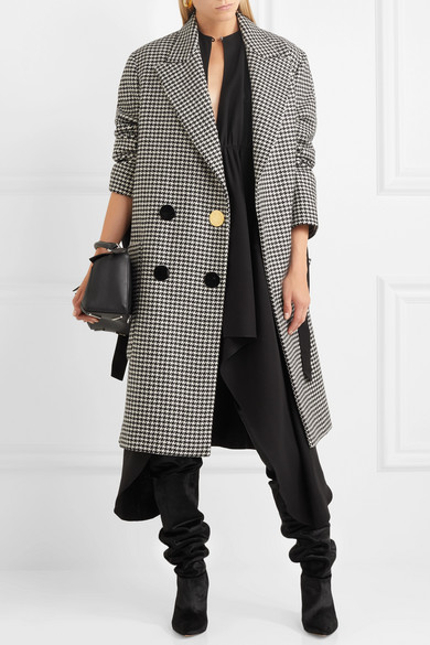 Petar Petrov | Double-breasted houndstooth wool coat | NET-A ...