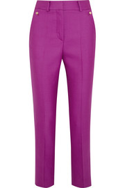 Hano wool and silk-blend slim-leg pants