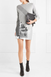 Proenza Schouler Asymmetric paneled wool and cashmere-blend sweater