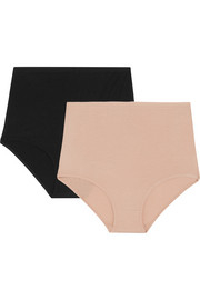 Set of two stretch-bamboo briefs