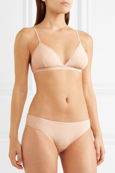 330367869f Baserange | Belmont ribbed stretch-organic cotton soft-cup triangle ...