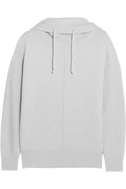 James Perse Waffle-knit cashmere hooded sweater