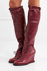 Bottega Veneta Leather wedge knee boots