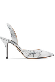 Paul Andrew Passion marble-effect patent-leather pumps