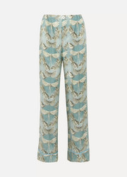 Etere printed silk-twill pajama pants