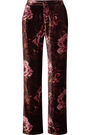 F.R.S For Restless Sleepers Crono floral-print velvet pajama pants