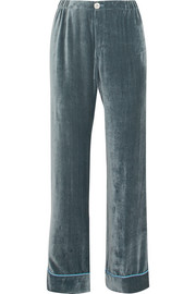 Etere silk-velvet pajama pants