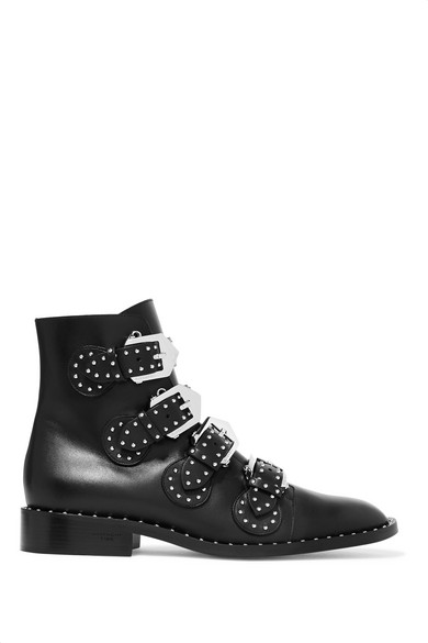 e2730bcfc33 Studded leather ankle boots