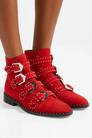 Givenchy Elegant studded suede ankle boots