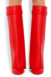Shark Lock leather over-the-knee boots