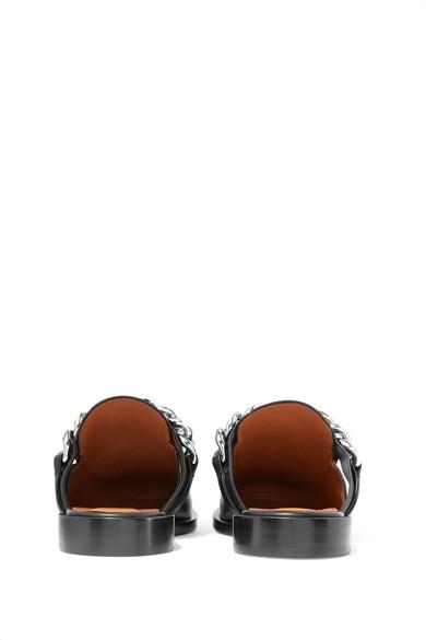 Givenchy Slippers aus Leder mit Kettenbesatz