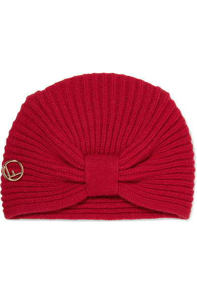 Fendi - Ribbed Wool Turban - Red at NET-A-PORTER